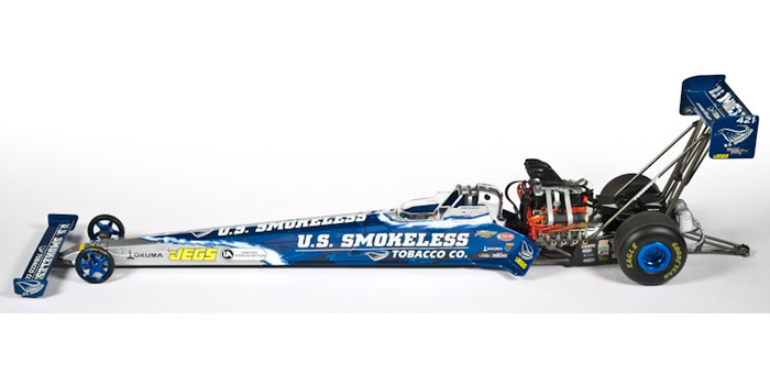 NHRA diecast: Spencer Massey 2008 US Smokeless Dragster
