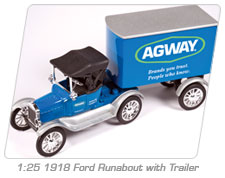 1:25 1918 Ford Runabout with Trailer