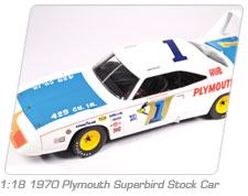 1:18 1970 Plymouth Superbird Stock Car