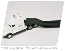 1:64 Freightliner 120 with Vehicle Trailer