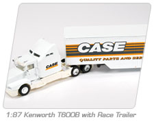1:87 Kenworth T600B with Race Trailer